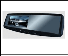 "4.3"" Mirror Monitor with 2 video inputs"